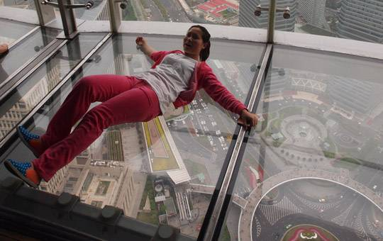 Oriental Pearl TV Tower glass floor