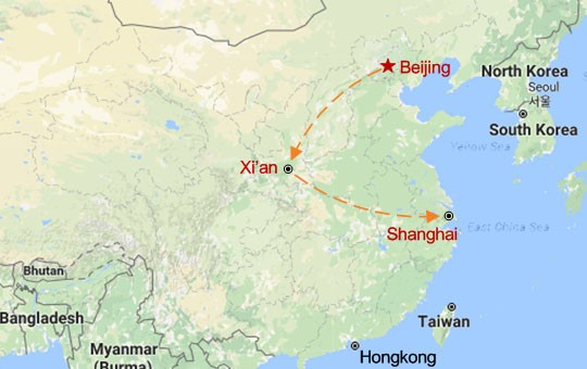 Golden Triangle of China Map