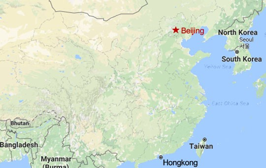 Beijing Highlights and Sleep on the Great Wall of China Map