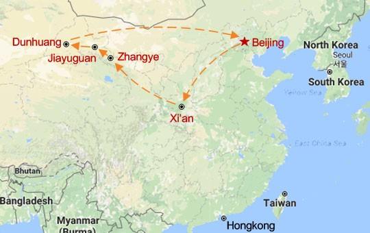 Treasures of the Silk Road Map