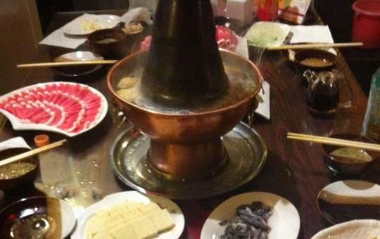 Chinese food Peking hot pot