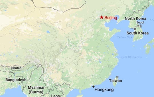Beijing Relax and Unwind Tour Map