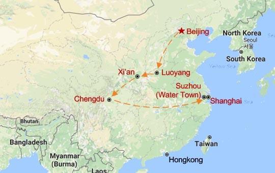 The China Highlights Map