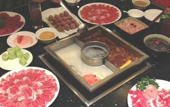 Chinese food Sichuan hot pot