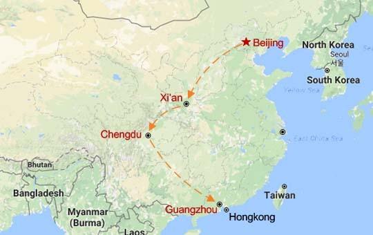 Gourmet China Adventure Map