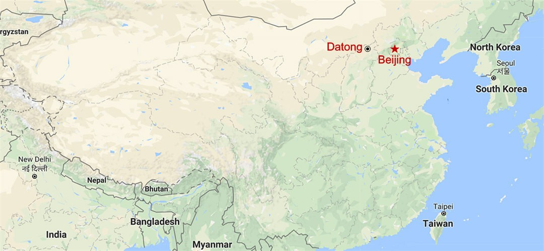 Datong Two Day Trip from Beijing Map