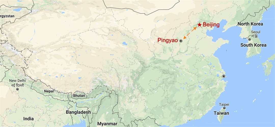 Pingyao Tour from Beijing Map
