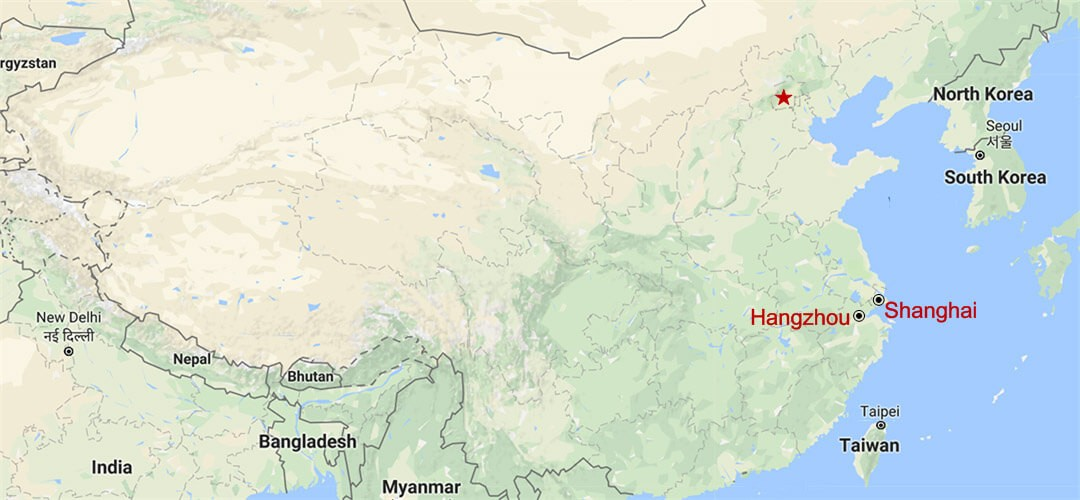 Hangzhou Day Tour from Shanghai Map