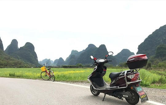 Biking in the countryside of Yangshuo ' 540x340 ' 1