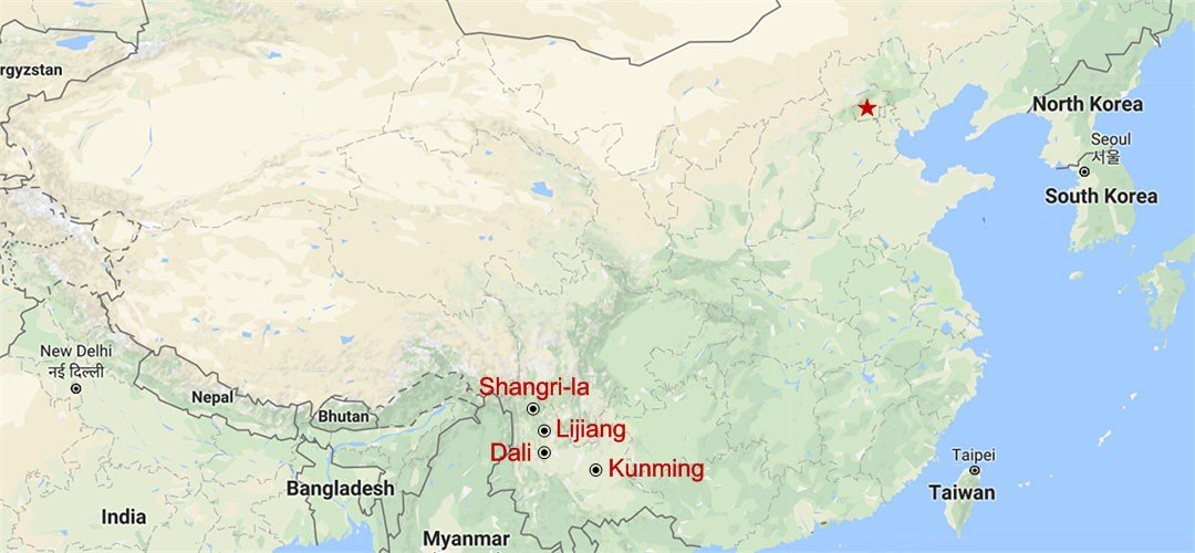 Yunnan Ethnic Culture Tour Map