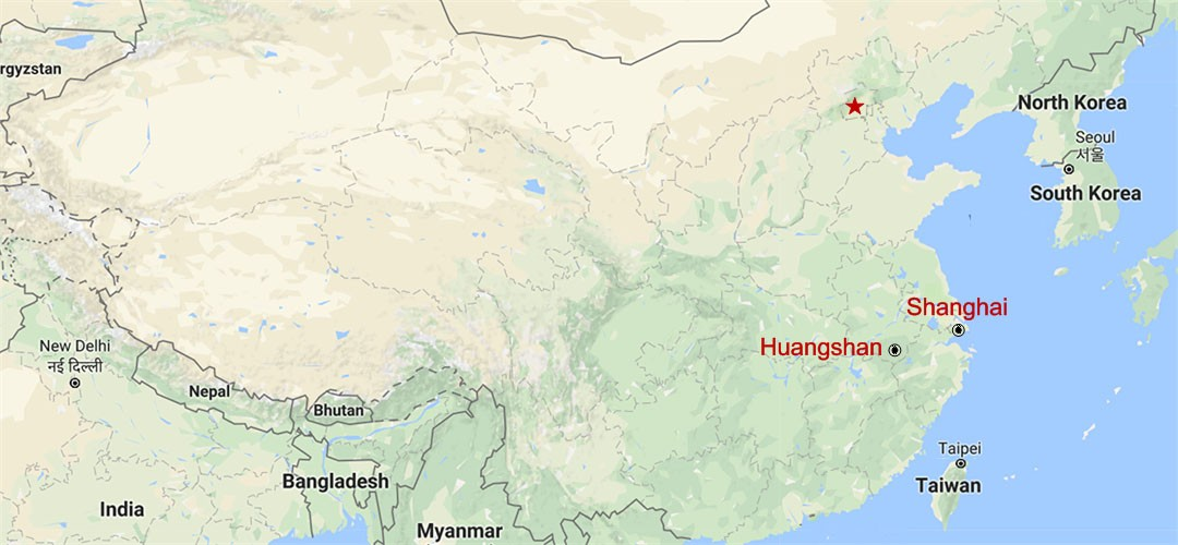 Huangshan and Huizhou Village Tour from Shanghai Map