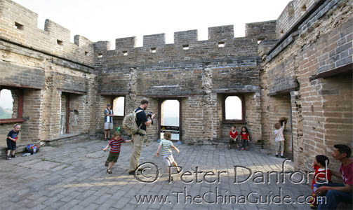 children on the Great Wall
