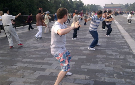 Morning Activities in Temple of Heaven Park