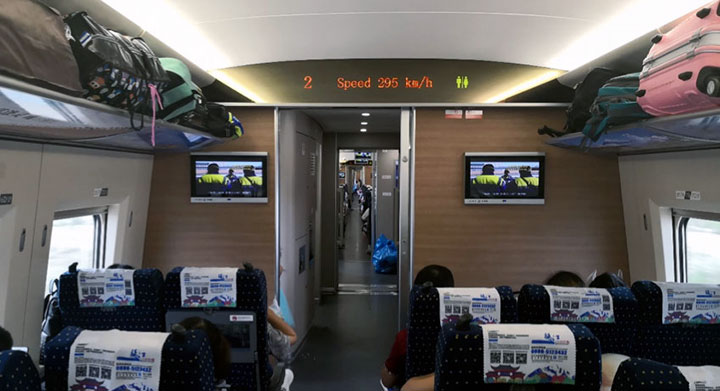 inside chinese train