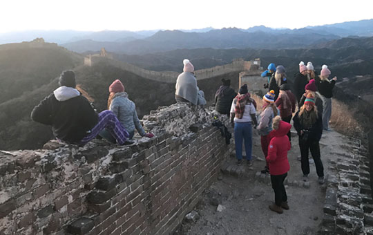 Hike and camp on the Great Wall of China