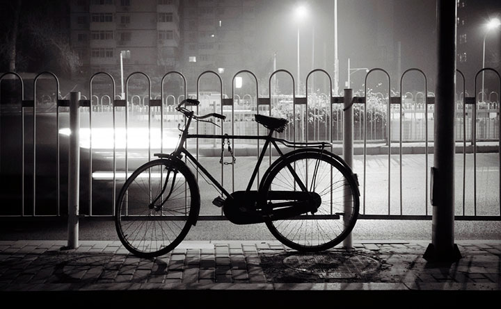beijing bicycle black and white