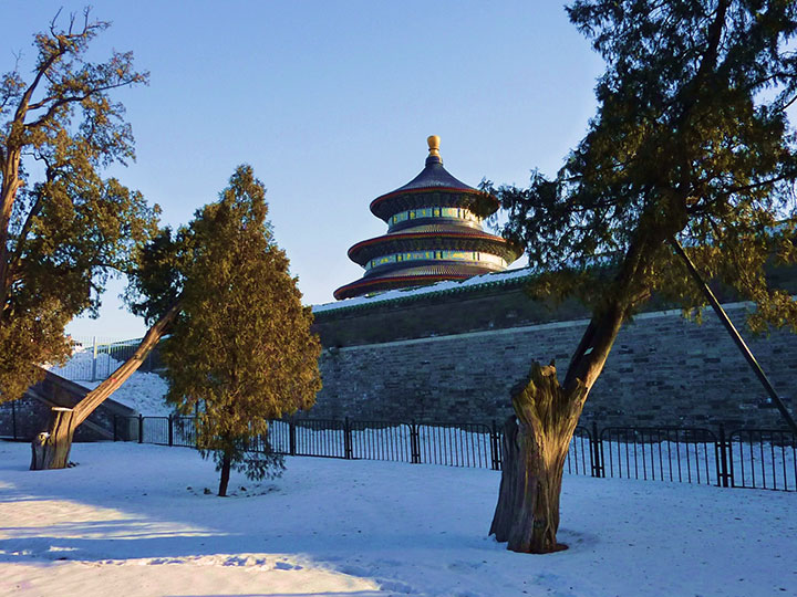 temple of heaven in the winter